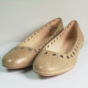 Isola Women's Gold Comfy Flats Size 7.5 M